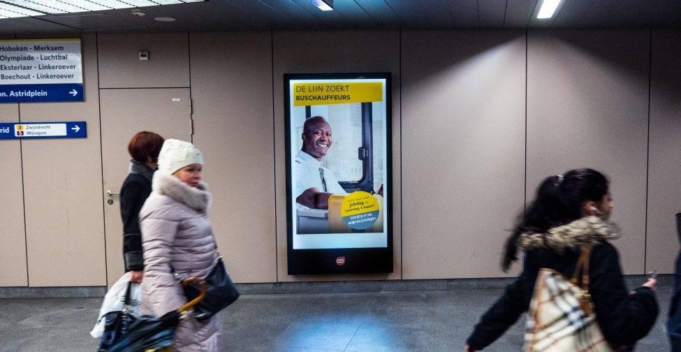 Eerste digitale abri metrostation Diamant